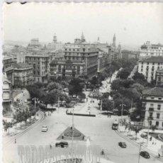 Postales: + ZARAGOZA PLAZA ARAGON 1958 TRANVIA. Lote 22777019