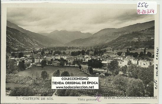 (PS-20314)POSTAL DE FOTOGRAFICA DE CASTEJON DE SOS(HUESCA)-VISTA GENERAL (Postales - España - Aragón Antigua (hasta 1939))