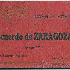 Postales: 7269 - CARNET POSTAL RECUERDO DE ZARAGOZA- 16 TARJETAS POSTALES - SERIE 1. Lote 26033622