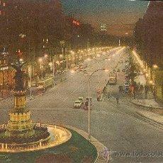 Postales: ZARAGOZA.PASEO DE LA INDEPENDENCIA.NOCTURNA. Lote 23420370