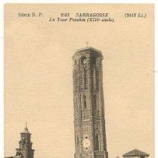 Postales: ZARAGOZA - LA TORRE INCLINADA (S.XIII). Lote 24298355