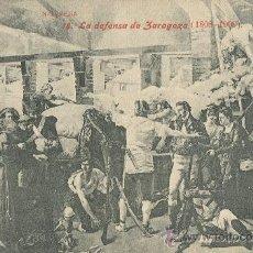 Postales: ZARAGOZA. CENTENARIO SITIOS. 1808-1908. LA DEFENSA.. Lote 24716062
