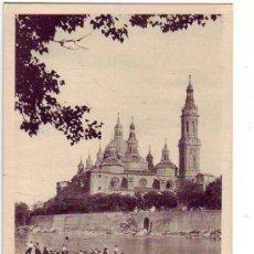 Postales: ZARAGOZA - ORILLAS DEL EBRO - EDICIONES M. ARRIBAS. Lote 25110008