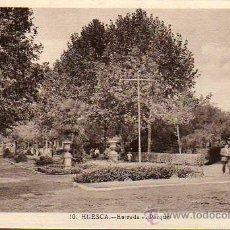 Postales: BUENA POSTAL DE HUESCA - ENTRADA AL PARQUE. Lote 25802598