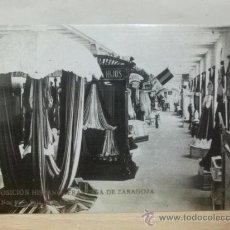 Postales: ZARAGOZA 1908. EXPOSICION HISPANO FRANCESA. SALA DE SABADELL. POSTAL FOTOGRAFICA. COYNE. Lote 25885534