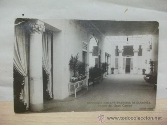 ZARAGOZA 1908. EXPOSICION HISPANO FRANCESA. CASINO POSTAL FOTOGRAFICA. COYNE (Postales - España - Aragón Antigua (hasta 1939))