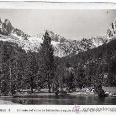 Postales: BONITA POSTAL - BENASQUE (HUESCA) - ENTRADA DEL VALLE DE BATISIELLES Y AGUJA DE PERRAMO . Lote 26262039