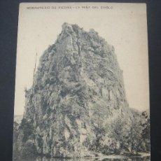 """Postales: """"MONASTERIO DE PIEDRA. LA PEÑA DEL DIABLO"""". CIRCULADA. SELLO 10 CTS DE ALFONSO XIII ¿2-8-15?. Lote 26757593"""