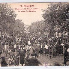 Postales: ZARAGOZA- 24 - PASEO DE LA INDEPENDENCIA - ROISIN- (5942). Lote 26977618