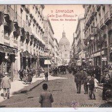 Postales: ZARAGOZA- 9 - CALLE DE ALFONSO I - ROISIN- (5943). Lote 26977635