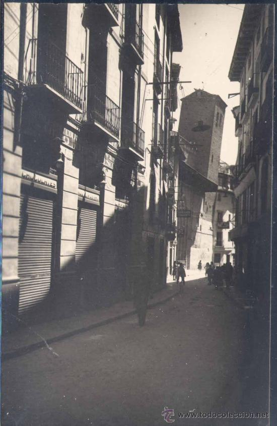 CALATAYUD ( ZARAGOZA).- CALLE DE DATO Y TORRE INCLINADA DE SAN PEDRO (Postales - España - Aragón Moderna (desde 1.940))