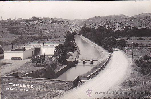 POSTAL FOTOGRAFICA TAMARITE DE LITERA CASA EL CANAL (Postales - España - Aragón Antigua (hasta 1939))