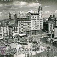 Postales: ZARAGOZA.- PLAZA DE ESPAÑA.- EDICIONES SICILIA Nº 105. Lote 27615408