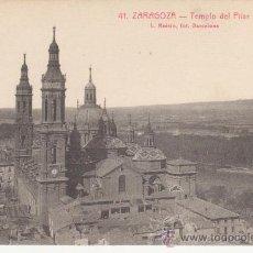 Postales: ZARAGOZA. 41 TEMPLO DEL PILAR.NO CIRCULADA.L.ROISIN.FOT.BARCELONA.. Lote 27633228