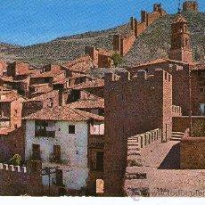 Postales: POSTAL DE ALBARRACIN TERUEL - VISTA PANORAMICA , DETALLE MURALLAS Y CASTILLO - MONUMENTO NACIONAL. Lote 27773293