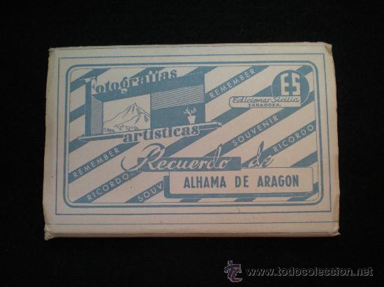 TARJETAS POSTALES. ALHAMA DE ARAGÓN (ZARAGOZA). LOTE DESPLEGABLE COMPLETO. AÑOS 60. (Postales - España - Aragón Moderna (desde 1.940))