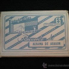 Postales: TARJETAS POSTALES. ALHAMA DE ARAGÓN (ZARAGOZA). LOTE DESPLEGABLE COMPLETO. AÑOS 60.. Lote 27838705