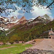 Postales: BIELSA, PARADOR NACIONAL Y MONTE PERDIDO. Lote 27881701