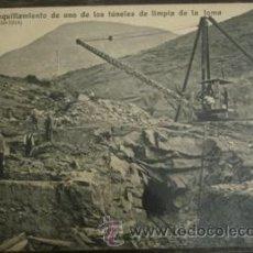 Postales: EL RUN (HUESCA) - EMBOQUILLAMIENTO DE UNO DE LOS TUNELES DE LIMPIA DE LA TOMA . Lote 27901852