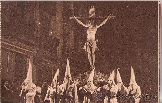 Postales: HUESCA - SEMANA SANTA - PROCESION DEL SANTO ENTIERRO-BLOCK COMPLETO DE 10 POSTALES-VER FOTOS-( B-44) - Foto 9 - 28173968