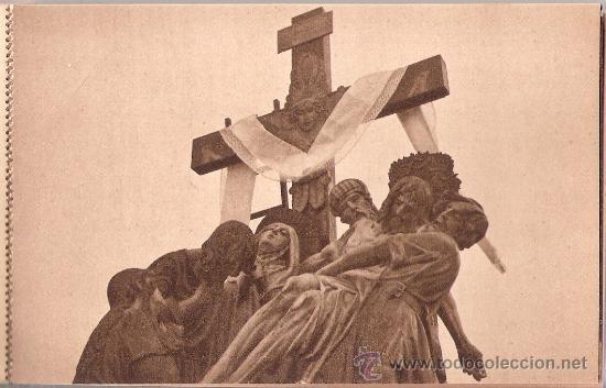 Postales: HUESCA - SEMANA SANTA - PROCESION DEL SANTO ENTIERRO-BLOCK COMPLETO DE 10 POSTALES-VER FOTOS-( B-44) - Foto 10 - 28173968