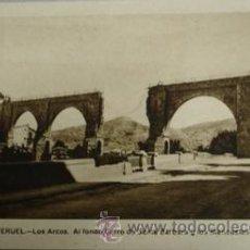 Postales: TERUEL Nº10 LOS ARCOS. AL FONDO CERRO DE SANTA BÁRBARA Y LOS MANSUETOS . Lote 28371520