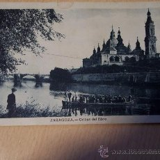 Postales: ZARAGOZA (ORILLAS DEL EBRO) CIRCULADA AÑO 1931. Lote 28527581