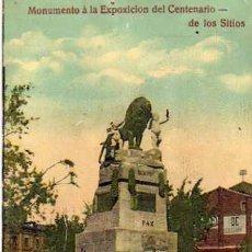 Postales: ZARAGOZA. MONUMENTO A LA EXPOSICIÓN DEL CENTENARIO DE LOS SITIOS.. Lote 28521179