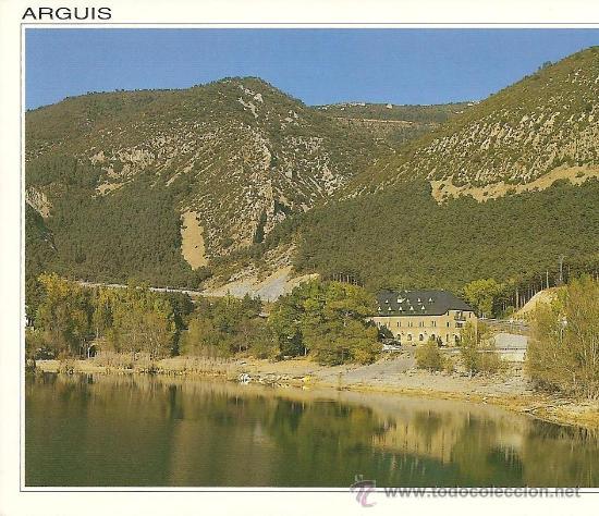 ARGUIS HUESCA PANTANO (Postales - España - Aragón Antigua (hasta 1939))