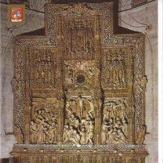 Postales: HUESCA CATEDRAL ALTAR MAYOR AÑOS 60. Lote 28796812