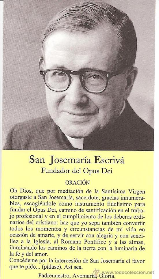 San Jose María Escriva De Balaguer Opus Dei Ora Sold Through Direct Sale 28806805