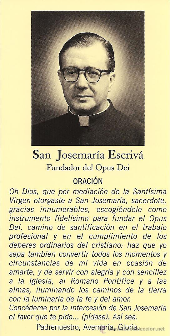 San Jose María Escriva De Balaguer Fundador Del Vendido Por Venda Direta 28806835