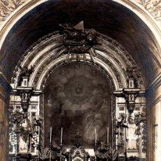 Postales: POSTAL FOTOGRAF. JACA (HUESCA), PRIMERA IGLESIA ERIGIDA AL SAGRADO CORAZÓN DE JESÚS, ESCRITA 1917. Lote 28899088