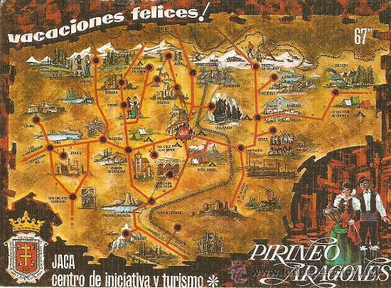 Mapa De Jaca Huesca.Jaca Huesca Mapa De Interes Turistico Buy Postcards From Aragon At Todocoleccion 28971347