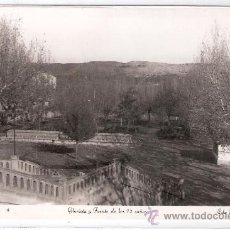Postales: ALCAÑIZ - 9 - GLORIETA Y FUENTE DE LOS 12 CAÑOS - FOTOGRAFICA - ED. ARRIBAS- (8303). Lote 29404463