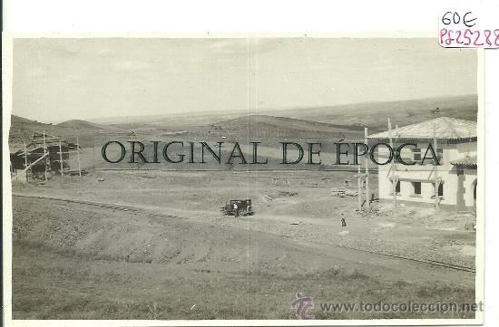 (PS-25288)POSTAL FOTOGRAFICA DE ENCINACORBA(ZARAGOZA)-CONSTRUCCION DE LA ESTACION DE FERROCARRIL (Postales - España - Aragón Antigua (hasta 1939))