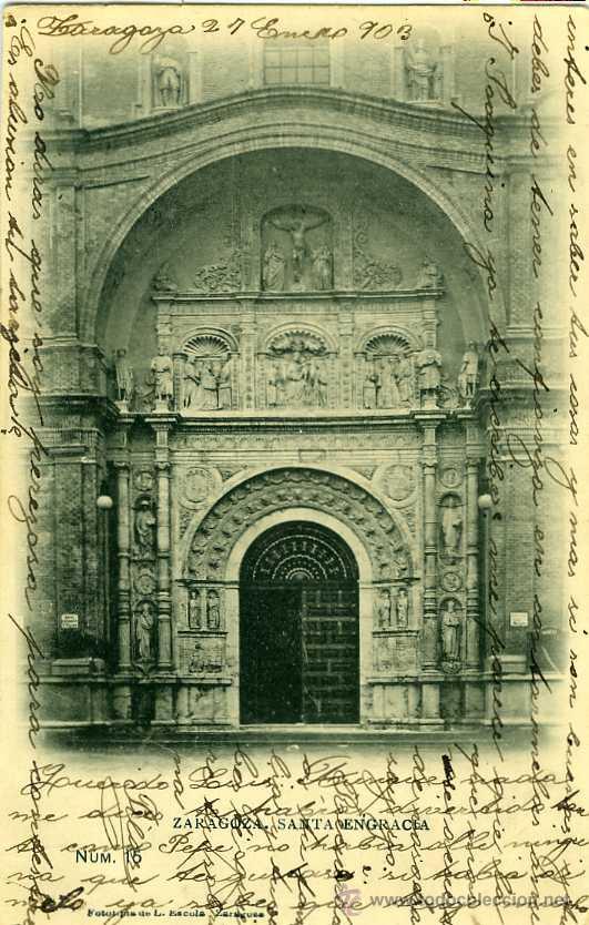 POSTAL ZARAGOZA SANTA ENGRACIA (Postales - España - Aragón Antigua (hasta 1939))