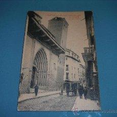 Postales: CALATAYUD - PORTADA Y TORRE INCLINADA DE LA IGLESIA DE SAN PEDRO. Lote 29335982