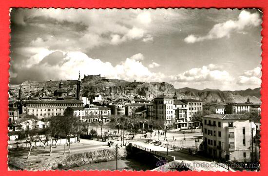 CALATAYUD - VISTA PARCIAL, AL FONDO EL CASTILLO - EDICIONES SICILIA - POSTAL (Postales - España - Aragón Moderna (desde 1.940))