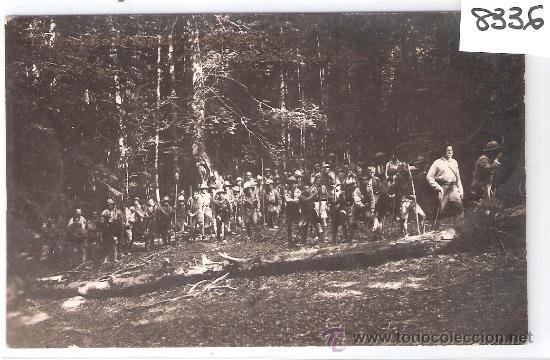 HECHO - EN EL BOSQUE DE OZA - EXPLORADORES DE ESPAÑA - TROPA DE ZARAGOZA - FOTOGRAFICA - (8336) (Postales - España - Aragón Antigua (hasta 1939))