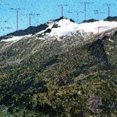 Postales: PANORÁMICA (29,5X10CM) BENASQUE, PIRINEO ARAGONÉS, MACISO MALDITO. Lote 29482473