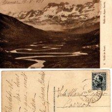 Postales: VALLE DE ANSÓ (HUESCA), VALLE DE AGUA FUERTE, FOTO COMPAIRÉ, FOTOT. HAUSER Y MENET, 1931. Lote 29560789