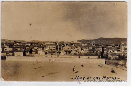 MAS DE LAS MATAS. TERUEL. CARMELO MATEU. SIN CIRCULAR. ACABADO FOTOGRÁFICO. (Postales - España - Aragón Antigua (hasta 1939))
