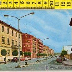Cartoline: TARJETA POSTAL DE EJEA DE LOS CABALLEROS AVENIDA DE COSCULLUELA ZARAGOZA COHE MOTO. Lote 29711857