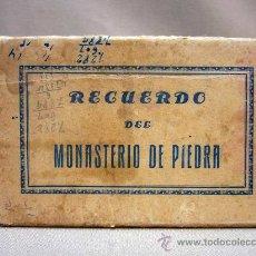 Postales: ALBUM DE FOTOS, POSTALES, POSTAL, RECUERDO DEL MONASTERIO DE PIEDR, 10 VISTAS. Lote 29833363