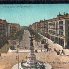 Postales: TARJETA POSTAL ZARAGOZA, PASEO DE LA INDEPENDENCIA. Lote 30092247
