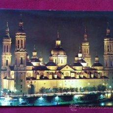 Postales: POSTAL ZARAGOZA - TEMPLO DEL PILAR ( NOCTURNO . ED SICILIA Nº 27. Lote 30381544