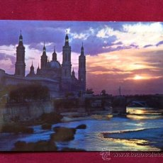 Postales: POSTAL DE ZARAGOZA - PUESTA DE SOL EN EL RIO EBRO . ED KOLOR - ZERKOWITZ . AÑOS 70 . Nº 1015. Lote 30381635