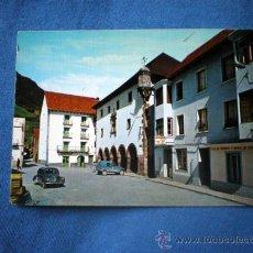 Postales: POSTAL HUESCA BIELSA PLAZA MAYOR Y AYUNTAMIENTO SIGLO XVI NO CIRCULADA. Lote 30443718
