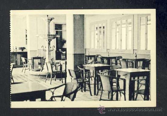 POSTAL DE VILAS DE TURBON: HALL DEL GRAN HOTEL (HAUSER Y MENET) (Postales - España - Aragón Antigua (hasta 1939))